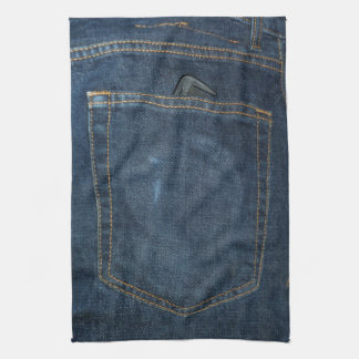 Blue Jeans Denim Pocket Kitchen Towel