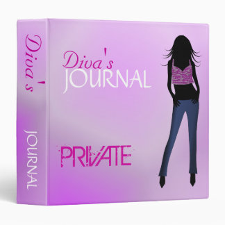 "Blue Jeans Fashion Girl Diva Journal Diary 1.5"" Binders"
