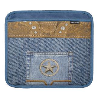 """Blue Jeans & Leather"" Western IPad  Sleeve"