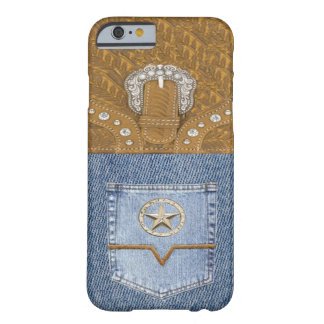 """Blue Jeans & Leather"" Western iPhone 6 case"