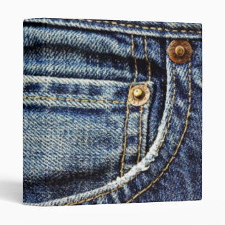 Blue Jeans Pocket Vinyl Binders