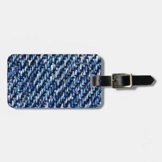 Blue jeans texture bag tag