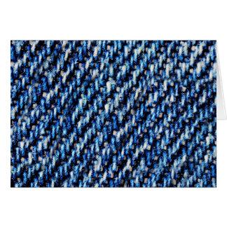 Blue jeans texture card