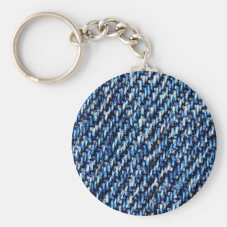 Blue jeans texture keychain
