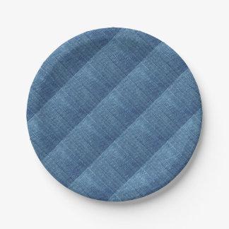 Blue jeans texture paper plate