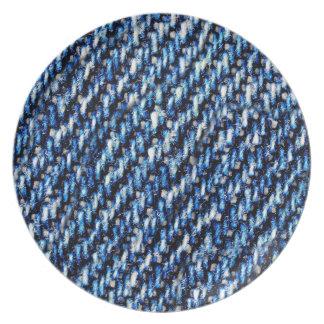 Blue jeans texture plate