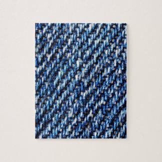 Blue jeans texture puzzle