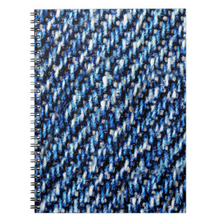 Blue jeans texture spiral note books
