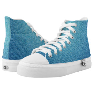 Blue jeans texture high tops
