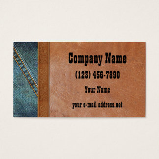 Blue Jeans Vintage leather Business Card