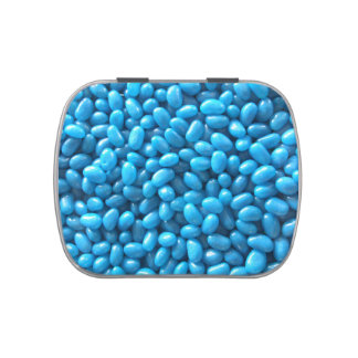 Blue Jelly Bean Candy Tin