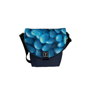 Blue Jelly Beans Messenger Bags