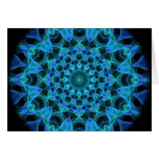 Blue Jellyfish Kaleidoscope Card