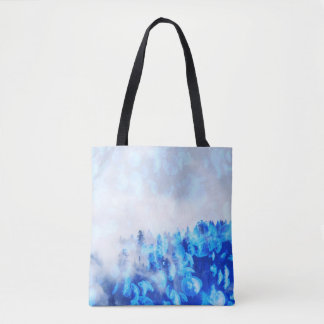 Blue Jellyfish Mountains - Tote Or Cross Body Bag