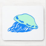 Blue Jellyfish Mouse Pad