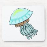 Blue Jellyfish Mousepads