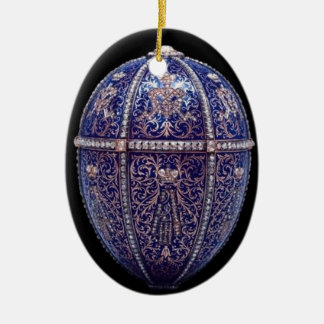 Blue Jeweled Egg Ornament