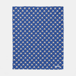 Blue John Dyer Seagull repeat Fleece Blanket