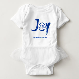 "Blue joy kanji inside enso circle ""Joy"" tutu Baby Bodysuit"