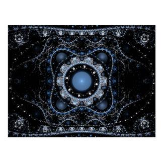 Blue Julian Fractal Postcard