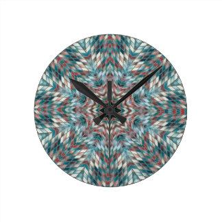 Blue kaleidoscope clock