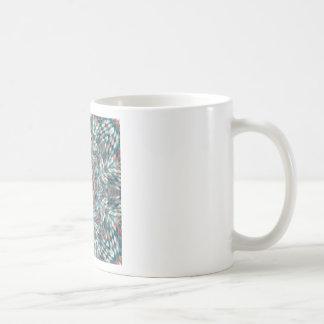 Blue kaleidoscope coffee mug