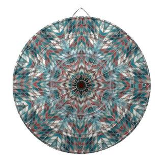 Blue kaleidoscope dartboard