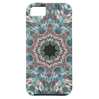 Blue kaleidoscope iPhone 5 case