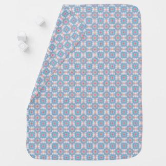 Blue Kaleidoscope Pattern Baby Blanket