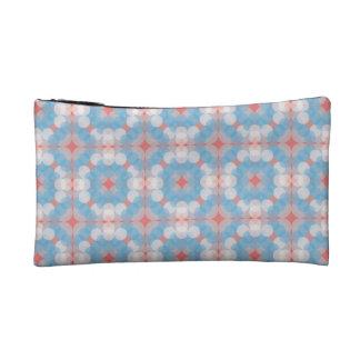 Blue Kaleidoscope Pattern Makeup Bag