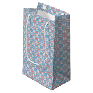 Blue Kaleidoscope Pattern Small Gift Bag