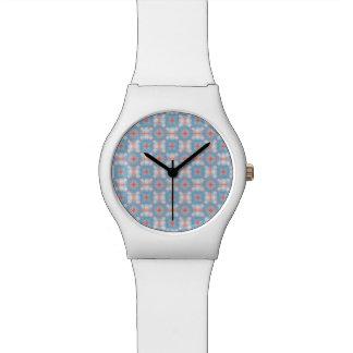 Blue Kaleidoscope Pattern Watch