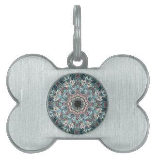 Blue kaleidoscope pet tag