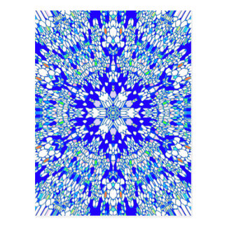 Blue Kaleidoscope Postcard