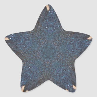 Blue Kaleidoscope Star Background Star Sticker