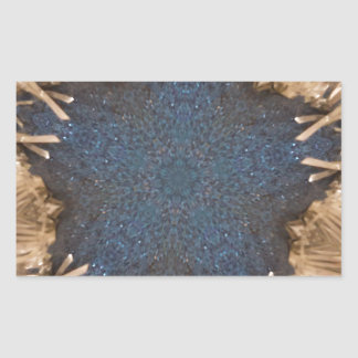 Blue Kaleidoscope Star Wicker Background