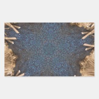 Blue Kaleidoscope Star Wicker Background Sticker