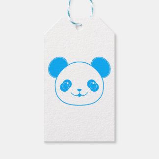 Blue Kawaii Panda Bear Gift Tags