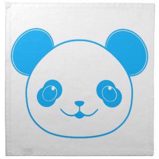 Blue Kawaii Panda Bear Napkin