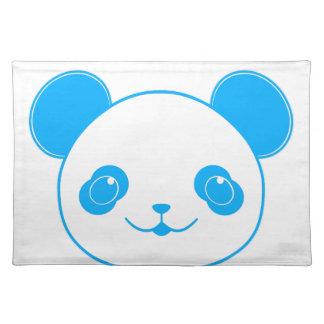 Blue Kawaii Panda Bear Placemat