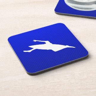 Blue Kayaking Drink Coaster