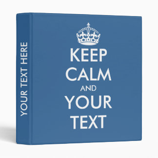 Blue keep calm binder | Custom office supplies
