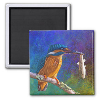 Blue kingfisher magnet