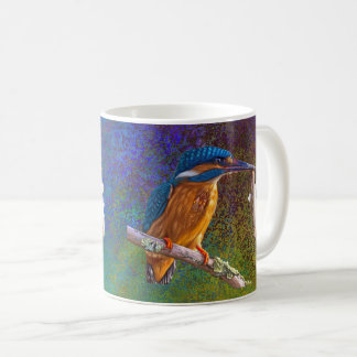 Blue kingfisher mug