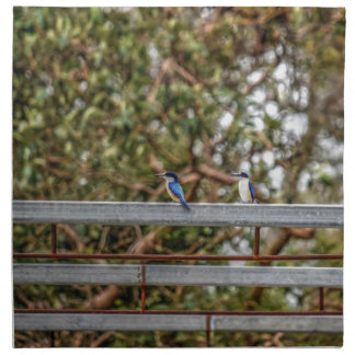 BLUE KINGFISHER QUEENSLAND AUSTRALIA ART EFFECTS NAPKIN