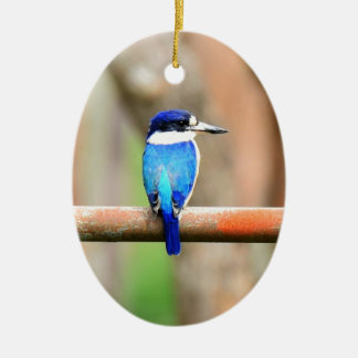 BLUE KINGFISHER QUEENSLAND AUSTRALIA CERAMIC ORNAMENT