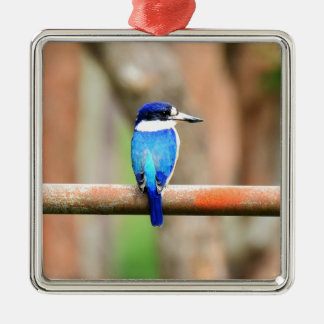 BLUE KINGFISHER QUEENSLAND AUSTRALIA METAL ORNAMENT