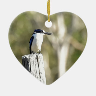 BLUE KINGFISHER RURAL QUEENSLAND AUSTRALIA CERAMIC ORNAMENT