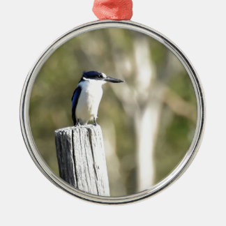 BLUE KINGFISHER RURAL QUEENSLAND AUSTRALIA METAL ORNAMENT