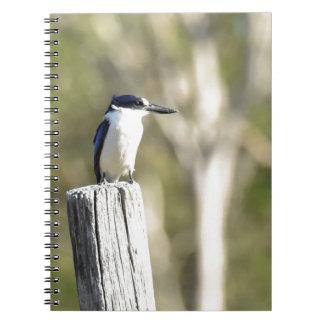 BLUE KINGFISHER RURAL QUEENSLAND AUSTRALIA NOTEBOOK